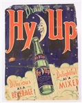"1930s Drink Hy-Up 20.5"" x 27"" Moon Bottle Broadside Advertising Display"