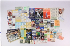 1970s-2000s Brewers Bucks Packers MLB Ticket Stub Collection - Lot of 100+ w/ Super Bowl IX Stub, Monteal Expos Olympic Stadium Stubs & More