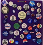 1976 Presidential Pinback Button Collection - Lot of 39 w/ George Wallace, Richard Nixon, Ted Kennedy, Fred Harris & More