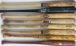 1970s-2010s Professional Model Game Used Bat Collection - Lot of 24 w/ Mike Cameron, Carlos Gomez, Lenny Harris, Mo Vaughn & More (MEARS LOA)