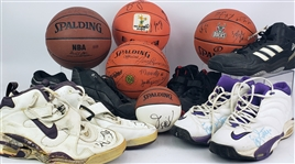 1980s-2000s Signed Basketballs & Sneakers Collections - Lot of 11 w/ Bob Knight Basketball, Vin Baker Game Worn Sneakers, Team Signed Basketballs & More (MEARS LOA)