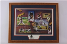 "1993 Hank Aaron Milwaukee Braves/Brewers Signed 28"" x 33"" Framed First & Last County Stadium Home Runs Lithograph (JSA) 237/1250"