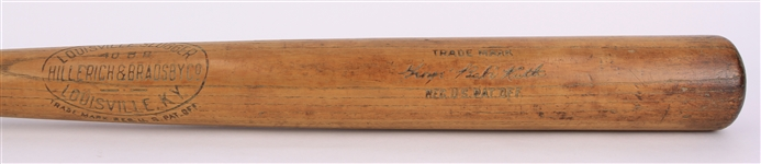 "1918-22 George ""Babe"" Ruth Red Sox/Yankees H&B Louisville Slugger 40BR Sidewritten Store Model Bat ""Monstrous 36.5"", 40.5 ounce"" (Direct from the Vaults of Louisville Slugger & Side Written)"