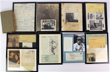 1920s-90s Woody English Cubs/Dodgers Personal Estate Collection - Lot of 42 w/ Woodys 1925 & 1926 Toledo Mud Hens Scrap Books, Signed Checks/Cuts & More (MEARS LOA)