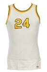 1960s White #34 Sand Knit Game Worn Basketball Jersey (MEARS LOA)