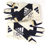 2000s Andrew Jones Adidas Signed Game Worn Batting Gloves (MEARS LOA/JSA)
