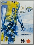 2018 Notre Dame Fighting Irish Clemson Tigers Goodyear Cotton Bowl Game Programs - Lot of 10
