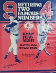 "1984 Ted Williams Joe Cronin Boston Red Sox Signed 17"" x 22"" Number Retirement Poster (JSA)"