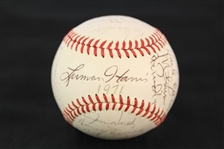1971 Atlanta Braves Team Signed ONL Feeney Baseball w/ 25 Signatures Including  Ralph Garr & More (JSA)