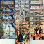 1993-2008 Green Bay Packers Publications & Trading Cards - Lot of 20 w/ Super Bowl Programs, Brett Favre Sports Illustrated & Reggie White Cards