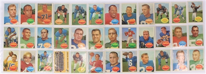 1960 Topps Football Trading Cards - Lot of 36 w/ Bart Starr, Johnny Unitas, Alan Ameche, Frank Gifford & More