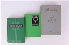 1929-39 Bambi & Bambis Children Hardcover Books - Lot of 3