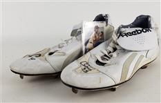1993 Chris Donnels Houston Astros Signed Reebok Game Worn Cleats (MEARS LOA/JSA)