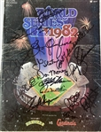 1982 Milwaukee Brewers Multi Signed World Series Program w/ 16 Signatures Including Robin Yount, Paul Molitor, Bob Uecker & More (JSA)