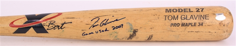 2007 Tom Glavine New York Mets Signed XBat Professional Model Game Used Bat (MEARS A10/JSA/Steiner)