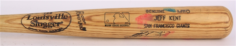 1999-2001 Jeff Kent San Francisco Giants Signed Louisville Slugger Professional Model Game Used Bat (MEARS LOA/JSA)