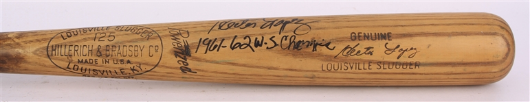 1961-63 Hector Lopez New York Yankees Signed H&B Louisville Slugger Professional Model Game Used Bat (MEARS A9/JSA & PSA/DNA GU 9)