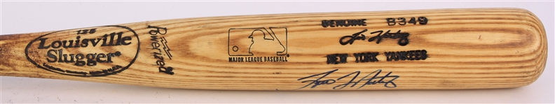 1999 Tino Martinez New York Yankees Signed Louisville Slugger Professional Model Game Used Bat (MEARS A8/JSA & PSA/DNA GU 8.5)
