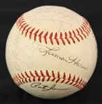 1971 Atlanta Braves Team Signed ONL Feeney Baseball w/ 25 Signatures Including Hank Aaron (Clubhouse), Eddie Mathews, Clete Boyer & More (JSA)