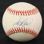 1985-89 Jim Rice Boston Red Sox Signed OAL Brown Baseball (JSA)