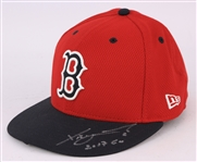 2017 Xander Bogaerts Boston Red Sox Signed Spring Training Game Worn Cap (MEARS LOA/JSA)