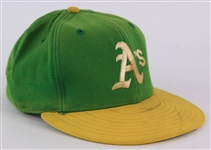 1980-81 Clete Boyer Oakland Athletics Game Worn Cap (MEARS LOA)