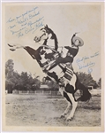 "1950s Duncan Renaldo The Cisco Kid 8"" x 10"" Mrs. Karls Bread Promotional Photo"