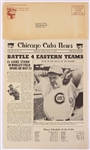 1945 Chicago Cubs News w/ Original Mailing Envelope