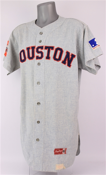 1969 Johnny Edwards Houston Astros Game Worn Road Jersey (MEARS A9)