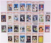 1959-2005 PSA Slabbed & Graded Baseball Trading Card Collection - Lot of 28 w/ Tom Seaver, Randy Johnson, Rickey Henderson & More
