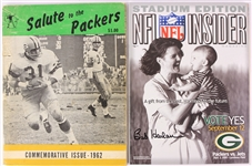 1962-2000 Green Bay Packers Publications - Lot of 2 w/ 1962 Salute to the Packers & Bob Harlan Signed Program (JSA)