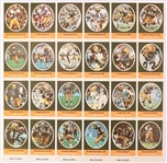 1972 Green Bay Packers Uncut Sunoco Player Stamp Sheet w/ 24 Total Stamps