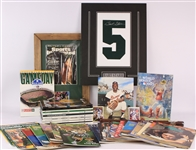 "1960s-2010s Sports Memorabilia Collection - Lot of 48 w/ Publications, 16"" x 20"" Matted Bart Starr Secretarial Signed Numeral Display and More"