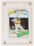 1980 Rickey Henderson Oakland Athletics Topps #482 Rookie Baseball Trading Card