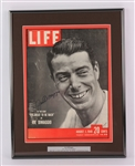"1949 Joe DiMaggio New York Yankees Signed 14"" x 18"" Framed Display (JSA)"