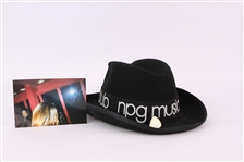 2001-06 Prince Personally Worn NPG Music Club Hat, Guitar Pick & Photo - Lot of 3 (MEARS LOA)