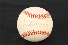 1993-94 Joe DiMaggio New York Yankees Signed OAL Brown Baseball (JSA)