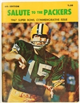 1967 Green Bay Packers Salute To The Packers Super Bowl Commemorative Issue