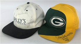 2000s Ray Nitschke Jim Taylor Fred Biletnikoff Ted Hendricks Signed Hats - Lot of 2 (JSA)