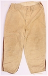 1950s Game Worn Flannel Baseball Uniform Pants (MEARS LOA)