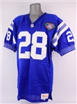 1994 Marshall Faulk Indianapolis Colts Signed Home Jersey (MEARS LOA/JSA) Rookie Season
