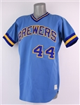 1973-75 Milwaukee Brewers #44 Road Jersey (MEARS LOA)