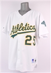 1996 Mark McGwire Oakland Athletics Home Jersey (MEARS A5)