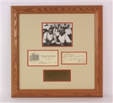 "1925 William Jennings Bryan Clarence Darrow Signed 18"" x 18"" Framed Scopes Trial Display (JSA)"