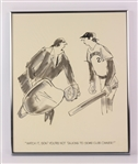 "1970s Watch It Son Youre Not Talking To Some Club Owner 14"" x 17"" Framed Illustration"