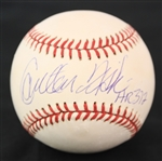2000s Carlton Fisk Chicago White Sox Signed OML Selig Baseball (JSA)