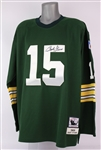 2000s Bart Starr Green Bay Packers Signed Mitchell & Ness Throwback Jersey (JSA)