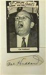 "1960s Cal Hubbard Green Bay Packers/AL Umpire 3.5"" x 5.5"" Postcard & Signed Cut - Lot of 2 (JSA)"