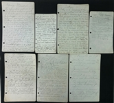 "1940s Johnny ""Blood"" McNally Green Bay Packers Handwritten & Typed Documents - Lot of 28"