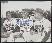 "1950s Hank Aaron Milwaukee Braves 8"" x 10"" Photo Signed (JSA)"